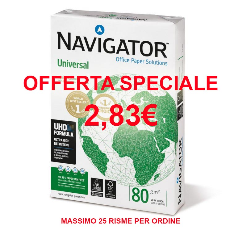 Carta Navigator A4 80g in offerta a 2,83€ larisma